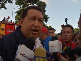 El Candidato de la Patria, Hugo Chávez, visitó este jueves la parroquia El Valle