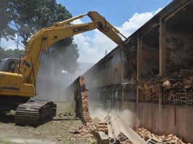 Comenzaron trabajos de demolición